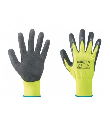 GUANTI NYLON/LATTICE GIALLO FLUO/NERO