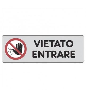 """ETICHETTA ADESIVA """"VIETATO ENTRARE"""""""