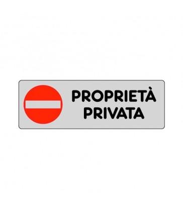 """ETICHETTA ADESIVA """"PROPRIETA' PRIVATA"""""""