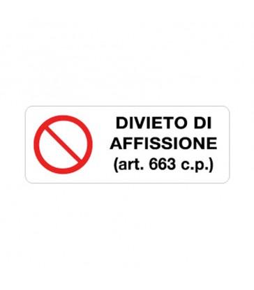 DIVIETO DI AFFISSIONE