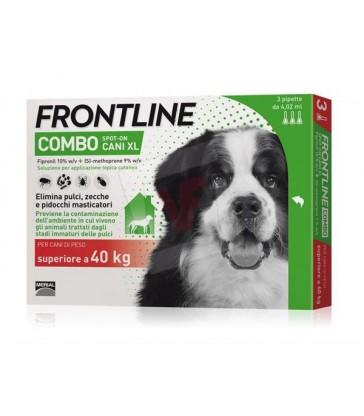 Frontline Combo ANTIPARASSITARIO COMBO per cani +40 kg (cf. 3 pipette)